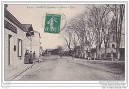 33) Sendets.- (Gironde) Place De L ' Eglise - (belle Animation - Bureau De Poste) - France