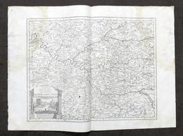 Antica Carta Geografica Del Governo Dell'Isola Di Francia - Albrizzi 1730 Ca. - Altri