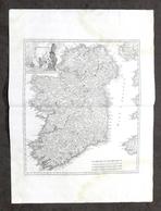 Antica Carta Geografica Dell'Irlanda - Albrizzi 1730 Ca. - Altri