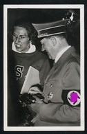 AK/CP R ! Propaganda  Hitler  Olympiade  Miss Stephens Erhält Autogramm  Gel/circ.1936   Erhaltung/Cond. 2-  Nr. 00817 - Guerra 1939-45