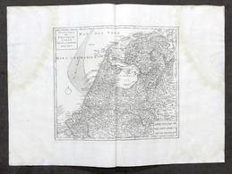 Nuova Carta Geografica Delle Provincie Unite - Paesi Bassi - Albrizzi 1730 Ca. - Altri