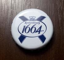 Beer Bottle Cap Kronenbourg 1664 Blanc Beer Carlsberg Ukraine Brewery - Cerveza