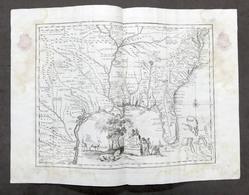 Carta Geografica Della Florida Nell'America Settentrionale - Albrizzi 1730 Ca. - Altri