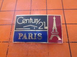 210a Pins Pin's / Rare & TB état / THEME : MARQUES / IMMOBILIER CENTURY 21 PARIS TOUR EIFFEL - Trademarks