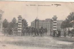 ***   77  ***  MELUN  Quartier De Cavalerie - écrite TTB - Melun