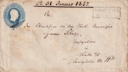 PREUSSEN  1857 ENTIER POSTAL/GANZSACHE/POSTAL STATIONERY  LETTRE DE NORDHAUSEN - Interi Postali
