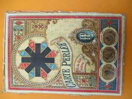 Dessus De Boite Carton  Bobines Anciennes Carton à Fil /Vide//Carte Perlée/Fil De Lin Extra/150/Vers 1890-1900 MER71deux - Vintage Clothes & Linen