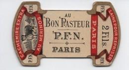 Bobine Ancienne Carton/AU BON Pasteur/PFN/Paris/Laine Pour Repriser/Cachemire Extra Au Mérinos/Vers 1920-1950 MER68deux - Otros