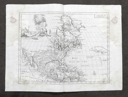 Antica Carta Geografica Dell'America Settentrionale - Albrizzi 1730 Ca. - Altri