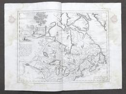 Antica Carta Geografica Del Canada Nell'America Settentrionale Albrizzi 1730 Ca. - Altri