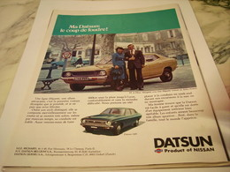 ANCIENNE   PUBLICITE COUP DE FOUDRE VOITURE DATSUN 1977 - Voitures