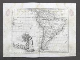 Antica Carta Geografica Dell'America Meridionale - Albrizzi 1730 Ca. - Altri