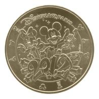 Monnaie De Paris , 2012 , Marne-la-Vallée , Disneyland Paris 2012 , Revers 12 EVM - Monnaie De Paris