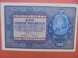 POLOGNE 100 ZLOTY 1919 PEU CIRCULER-TRES BONNE QUALITE (B.1) - Polonia