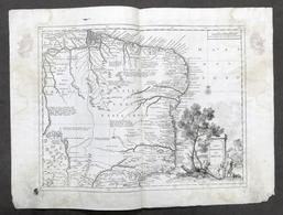 Antica Carta Geografica Del Bresil - Brasile - Albrizzi 1730 Ca. - Altri