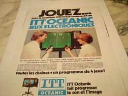 ANCIENNE  PUBLICITE JEUX ELECTRONIQUES ITT  OCEANIC 1977 - Unclassified