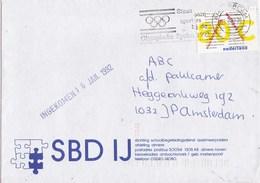 Nederland - Vlagstempel - Steun Onze Sporters Bij De Olympische Spelen 1992 - Postal History