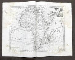 Antica Carta Geografica Generale Dell'Africa - Albrizzi 1730 Ca. - Altri