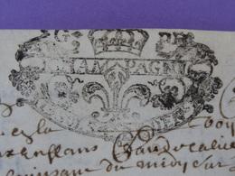 1712 Généralité De CHAMPAGNE Parchemin Timbré N°150 De 13 Sols Et 4 Deniers Incomplet - Seals Of Generality