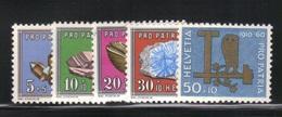 Suisse 1960 Yvert 661/65 Neufs** MNH (A7) - Suisse
