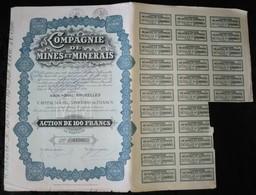 COMPAGNIE DE MINES ET MINERAIS . ACTION DE 100 FRANCS AU PORTEUR . - Shareholdings