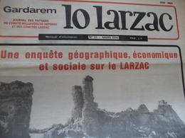 Journal Larzac Défense Du Larzac Gardarem  Lo Larzac N°31 Mars 1978 - Languedoc-Roussillon
