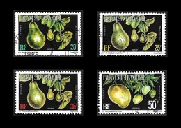 POLYNESIE  1977 -  Service 10 à 13 - Oblitérés - Cote  8.05e - Service
