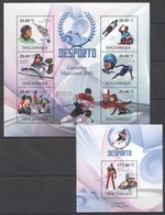 T165 2010 MOZAMBIQUE MOCAMBIQUE SPORT DESPORTO OLYMPIC GAMES 2010 MEN CHAMPIONS 1SH+1BL MNH - Francobolli