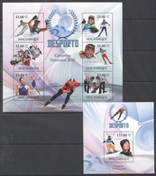 T168 2010 MOZAMBIQUE MOCAMBIQUE SPORT DESPORTO OLYMPIC GAMES 2010 WOMEN CHAMPIONS 1SH+1BL MNH - Francobolli