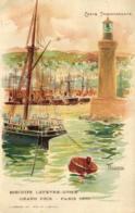 Fantaisie - Publicité - Biscuits Lefevre-Utile - Carte Transparente - Alger - C 7037 - Publicité