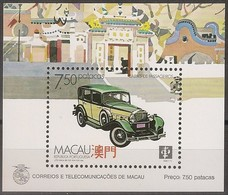 Macau Portugal China Chine 1988 - Bloco Nº 8 Meios Transporte Terrestres - Transport - SOUVENIR SHEET Mint MNH - Blokken & Velletjes