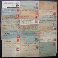 Lot De 25 Lettres Avec En Tête Commerciaux Etc, Différentes Villes, Voir Photos De Détail ! - Postmark Collection (Covers)