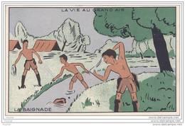 La Vie Au Grand Air - La Baignade - (Thème Scoutisme - Scouts) - Padvinderij