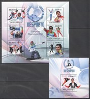 T181 2010 MOZAMBIQUE MOCAMBIQUE SPORT DESPORTO OLYMPIC GAMES 2010 MEN CHAMPIONS 1SH+1BL MN - Francobolli