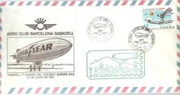 POSTMARKET    ESPAÑA  1982 SABADELL - Zeppelines
