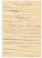 CROIX DE GUERRE CITATION à L'ORDRE DU REGIMENT 31 JUILLET 1915 - 1914-18