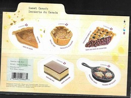 CANADA, 2019, MNH, FOOD, DESSERTS, BERRIES, PIES, SHEETLET - Food