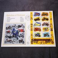 FRANCE FDC Grande ENVELOPPE SOIE 1er Jour CYLINDREES & CARENAGES 2002 Motos - Collection Timbre Poste - 2000-2009