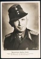 Foto AK/CP Ritterkreuzträger  Generalmajor Adalbert Schulz  Panzer   Ungel/uncirc.1933-45  Erhaltung/Cond. 2-  Nr. 00834 - Guerra 1939-45