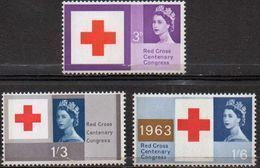 GREAT BRITAIN 1963 Red Cross Centenary Congress (ordinary) - 1952-.... (Elizabeth II)