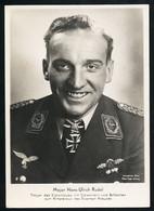 Foto AK/CP Ritterkreuzträger  Major Hans Ulrich Rudel    Ungel/uncirc.1933-45  Erhaltung/Cond. 2  Nr. 00835 - Guerra 1939-45