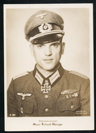 Foto AK/CP Ritterkreuzträger  Major Richard Metzger    Ungel/uncirc.1933-45  Erhaltung/Cond. 2  Nr. 00837 - Guerre 1939-45