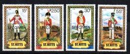 Serie Nº 527/30 Sobrecarga Specimen  St. Kitts. - Militares