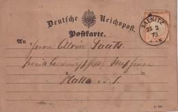 ALLEMAGNE   1873 CARTE DE SAENITZ - Deutschland