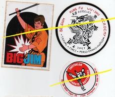 Autocollants (stickers) ARTS MARTIAUX KUN FU WU-SHU. SHOTOKAN.BIG JIM - Stickers