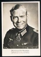 Foto AK/CP Ritterkreuzträger  Oberstleutnant  Erich Bärenfänger  Ungel/uncirc.1933-45  Erhaltung/Cond. 1-  Nr. 00839 - Guerra 1939-45