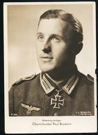 Foto AK/CP Ritterkreuzträger  Oberfeldwebel  Paul Baumann  Ungel/uncirc.1933-45  Erhaltung/Cond. 2-  Nr. 00840 - Guerra 1939-45