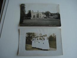 Cp + Carte Photo , Château Heron Court Hurn , Christchurch England , Infirmières Croix Rouge Red Cross ,guerre 14-18 - Inglaterra
