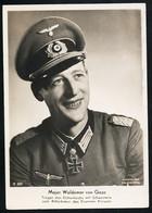 Foto AK/CP Ritterkreuzträger  Major Waldemar Von Gaza  Ungel/uncirc.1933-45  Erhaltung/Cond. 2-  Nr. 00841 - Weltkrieg 1939-45