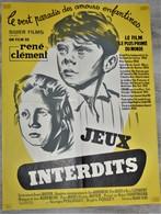 Rare Affiche Originale Du Film Jeux Interdits Format 58 X 78 Cm - Posters